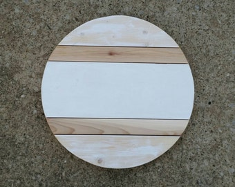 """Customizable Wood Round Monogram 15"""", Choose Your Letter"""