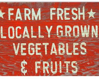 Vegetable fruit sign | Etsy
