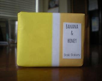 soap, banana and honey, handmade soap, homemade soap