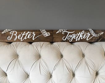Wedding Chair Hangers - Better Together with Lace Hangers