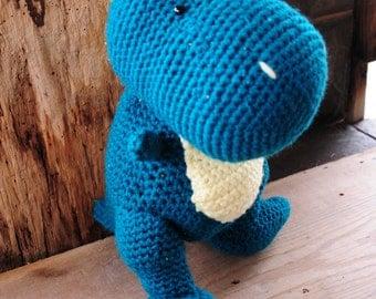 Crocheted Stuffed Dinosaur, Plush Dinosaur, Plush T-Rex, Children's Stuffed Dinosaur, Stuffed T-Rex, Crocheted T-Tex