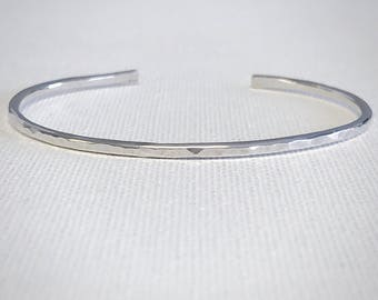 Texture Cuff Bracelet - Sterling Silver - Hammered Bracelet - Hammered Cuff - Minimalist Bracelet