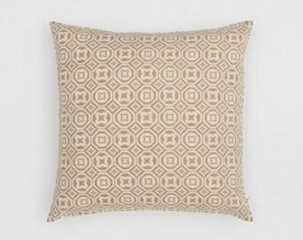 Karo Handscreen Printed Cushion Cover - Fawn  50x50cm