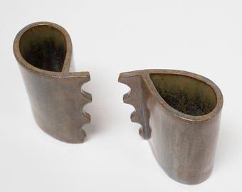 Two Handmade Espresso Cups - Ceramics - Home Decor - Studio Pottery UK - Barbara Pianca Design
