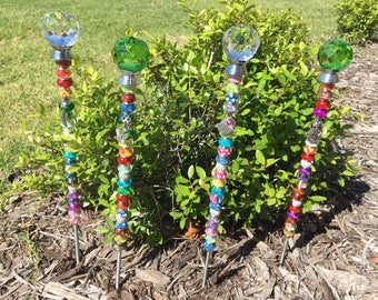 Garden wands,sun catchers,garden stakes,fairy garden,garden decor,home decor,gift for her,gift for him,garden ornament,plant jewels,magical