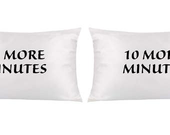 Pillowcases 10 More Minutes Sheets Pillow covers White Pillow Cases