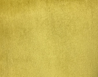 Velvet Upholstery Fabric - Byron - Curry - Premium Plush Sateen Velvet Upholstery Fabric by the Yard - Available in 49 Colors