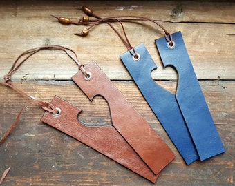 SALE 20%OFF! !  2 Leather Bookmarks,Personalised Gift,Bookmark,Valentines Gift,Gift for Boyfriend,Gift for Girlfriend,Personalised Bookmark
