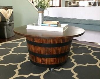 Barrel coffee table Etsy