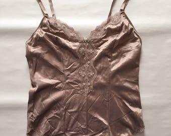 cocoa powder cami | lace rose cami | cocoa tank top
