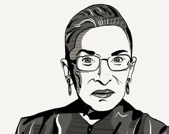 Justice Ruth Bader Ginsburg Print