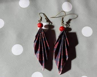 Paper origami #1 earrings