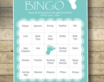 Baby Shower Bingo Cards - Baby Shower Bingo Game - 40 Unique Game Cards - Digital File - Instant Download