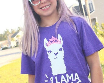 Llama queen shirt, llama shirt for girls. llama oufit, funny shirt for girls, llama llama