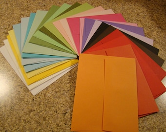 A2 Envelopes VARIETY 1 each of 24 colors QUALITY
