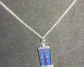 Doctor Who inspired Police Box necklace