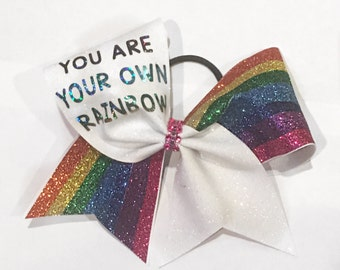 You are your own Rainbow Cheer Bow