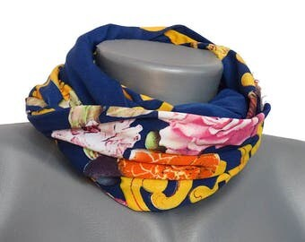 Handmade scarf, with a floral pattern from Jersey, art. No. 8016