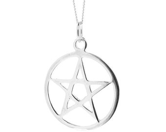 Sterling Silver Pentagram Pendant & Chain