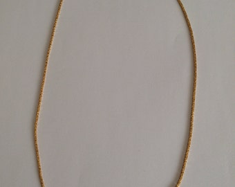 Yellow solid gold (18k) Byzantine chain. (section 1,2 mm)