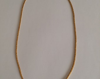 Yellow solid gold (18k) Byzantine chain. (section 1,7 mm)