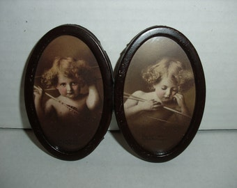 Tiny Oval Photos.  Cupid Awake. Cupid Asleep.   M. B. Parkinson