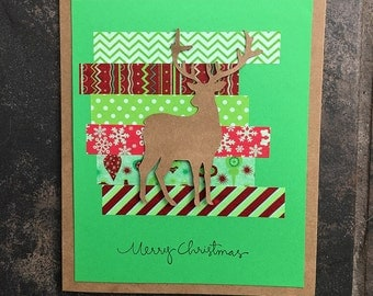 Deer Christmas Card // Handmade Card