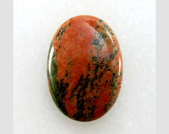 Unakite 23X32X5mm Oval Shape AAA+ Quality Loose Gemstone Cabochon Unakite Gemstone For Jewelry Making 33Cts B-14010