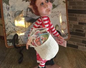Valentine's Elf Fairy Cupid Doll OOAK Artist