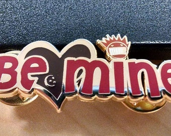 Ween Valentine Be Mine/Things You Already Know Hard Enamel lapel pin - red/gold