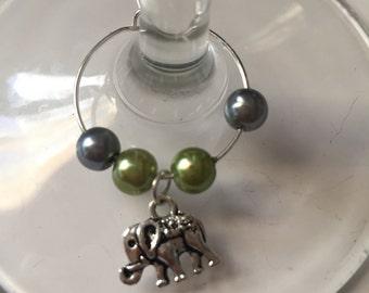 Elephant Wine Glass Charm