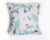 Bird Pillow Covers, Blue, Pillow Covers, Blue Birds, Bird Pillow Cover, Bird Pillow, Cotton Pillow, Linen Pillow, Maison de Miel