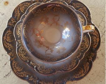 3 piece Tea Cup China set ~ Marked 1578