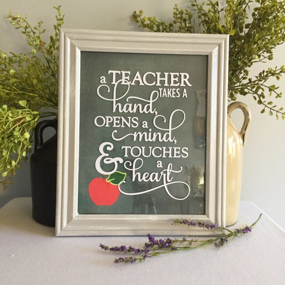 Teacher Gift/Framed Saying/8x10/Teacher Appreciation/Apple/Framed Teacher Quote/Education Major Gift/Back to School/Wall Hanging/Wall Decor