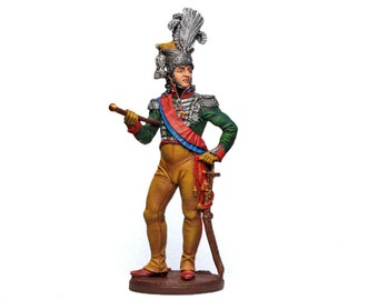 Tin Soldier, French Marshal, King of Naples Joachim Murat, Napoleonic Wars, Historical Miniature, Pewter Soldier, Painted Napoleonic, 60 mm