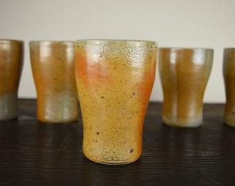 beaker,wood fired stoneware