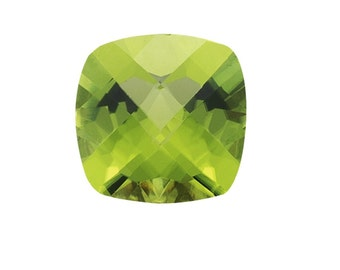 1.00-1.20 Cts of 6 mm AA (Slightly included) Loose Peridot Cushion Checkered Board-120613