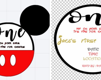 Set of 15 Mickey or Minnie Mouse Party Invitations