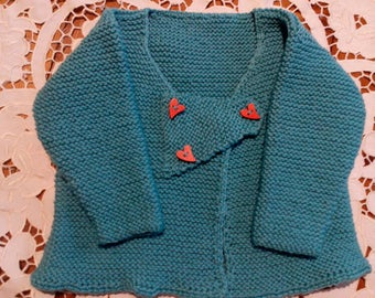 This casual jacket is made from Australian eight ply wool and will fit a two year old