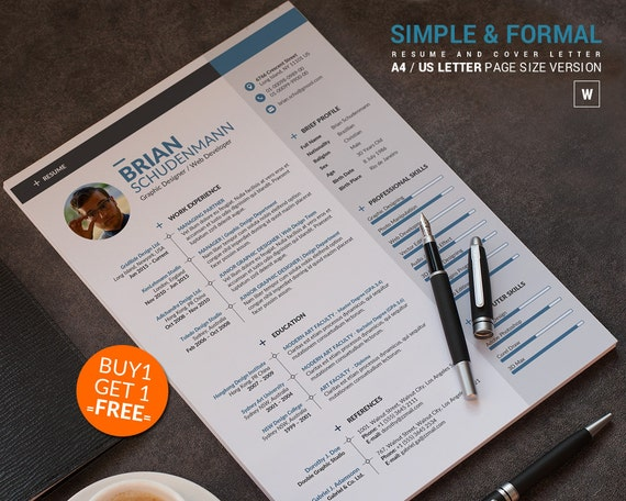 40% OFF ... APPLY THIS COUPON ON ANY TEMPLATE(S) YOU PURCHASE :: Resume Template / CV Template, Word Resume Design with 2 Cover Letter layout, Modern Curriculum Vitae Instant Download