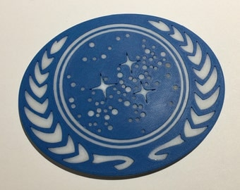 3D Printed United Federation of Planets Logo Coaster / Plaque