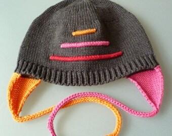 """Baby Beanie hat """"Fire"""""""