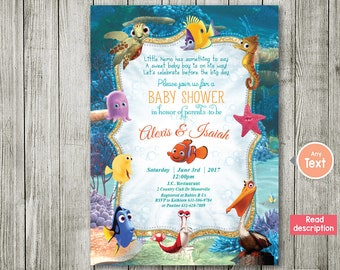 finding nemo invitation baby shower invitation nemo baby shower boy