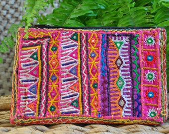Ethnic Clutch, Purse, Pouch, Wallet, Handmade Bohemian bag, Indian Clutch, Cotton