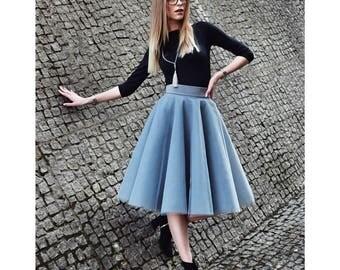 Gray tulle skirt!