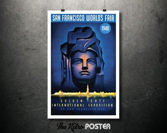 Golden Gate International Exposition, San Francisco World's Fair Travel Poster, Tourism - Poster Print or Canvas Print, Vacation, Exhibition