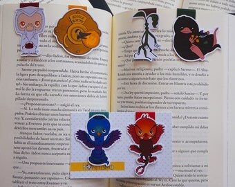 Magnetic bookmarks - Fantastic beasts and where you find them, JK Rowling, Newt Scamander, Niffler, Demiguise, Bowtruckle, Occamy