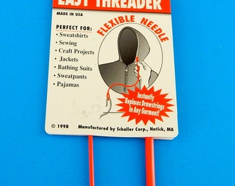 "Easy Threader Craft Tool 24"" Flexible Needle Drawstring Sewing Made in USA Bodkin"