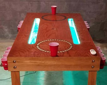Custom Beer Pong Table (furniture, drinking game, gaming table, game table, fraternity, sorority, bar, party, man cave, dining room)