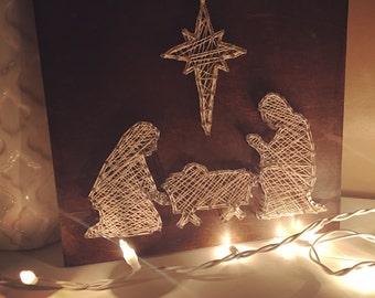 Nativity String Art-Handmade